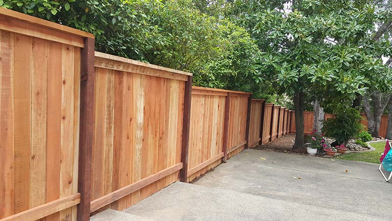 Solid Board Fence with Cap and Trim  – 2