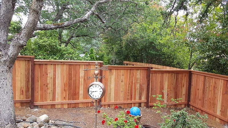Solid Board Fence with Cap and Trim  – 1