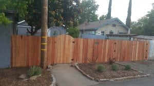 Redwood Dog Ear Fence – 6