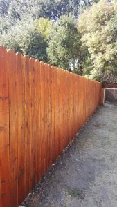 Redwood Dog Ear Fence (Stained) – 13