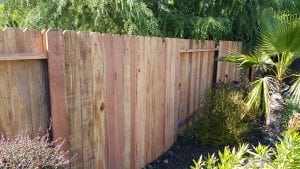 Redwood Dog Ear Fence – 4