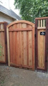 Custom Arched and Trimed Gate