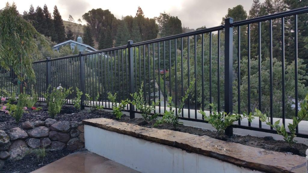 Aluminum Flat Top Fence – 14