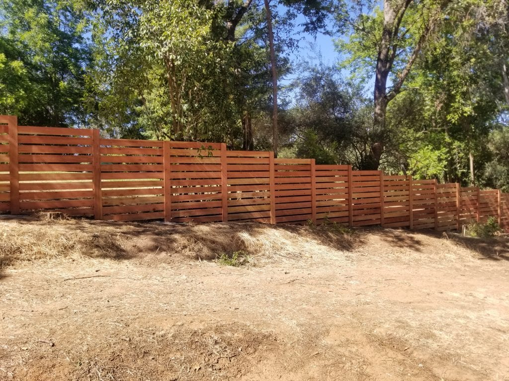 Redwood Spaced Horizontal style – 8