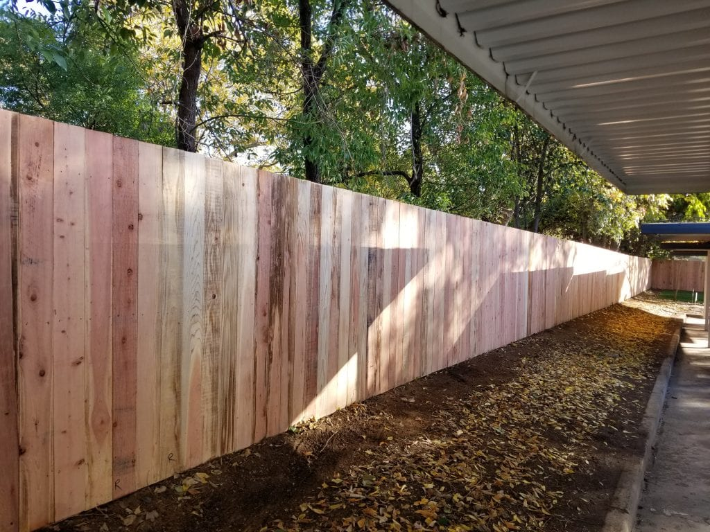Solid Board Flat Top Style Fence – 1