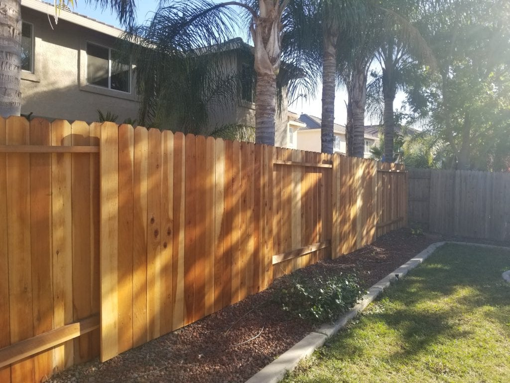 Alternating Dog Ear Redwood Fence – 9